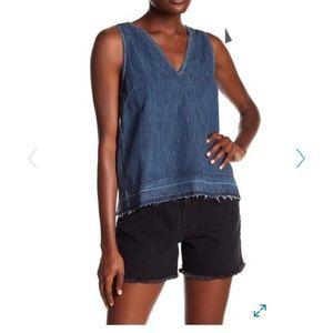 RAG & BONE released hem drape jean tank top